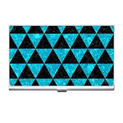 Triangle3 Black Marble & Turquoise Marble Business Card Holder