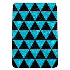 Triangle3 Black Marble & Turquoise Marble Removable Flap Cover (l)