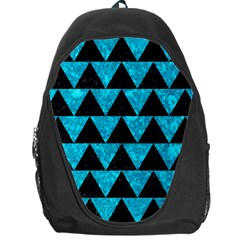 Triangle2 Black Marble & Turquoise Marble Backpack Bag