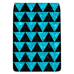 Triangle2 Black Marble & Turquoise Marble Removable Flap Cover (l)