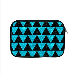 Triangle2 Black Marble & Turquoise Marble Apple Macbook Pro 15  Zipper Case