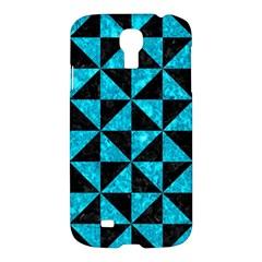 Triangle1 Black Marble & Turquoise Marble Samsung Galaxy S4 I9500/i9505 Hardshell Case