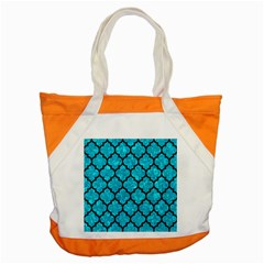 Tile1 Black Marble & Turquoise Marble (r) Accent Tote Bag