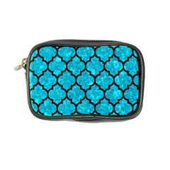 Tile1 Black Marble & Turquoise Marble (r) Coin Purse