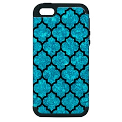 Tile1 Black Marble & Turquoise Marble (r) Apple Iphone 5 Hardshell Case (pc+silicone)