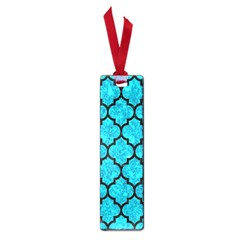 Tile1 Black Marble & Turquoise Marble (r) Small Book Mark