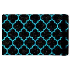 Tile1 Black Marble & Turquoise Marble Apple Ipad 3/4 Flip Case