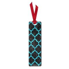 Tile1 Black Marble & Turquoise Marble Small Book Mark