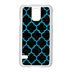 Tile1 Black Marble & Turquoise Marble Samsung Galaxy S5 Case (white)