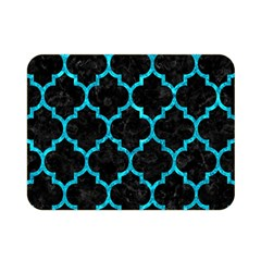 Tile1 Black Marble & Turquoise Marble Double Sided Flano Blanket (mini)
