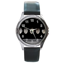 Moon Phase Round Metal Watch