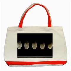 Moon Phase Classic Tote Bag (red)