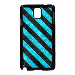 Stripes3 Black Marble & Turquoise Marble (r) Samsung Galaxy Note 3 Neo Hardshell Case (black)