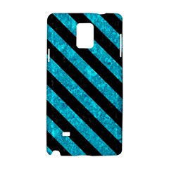 Stripes3 Black Marble & Turquoise Marble (r) Samsung Galaxy Note 4 Hardshell Case