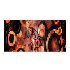 Orange Black Abstract Artwork Satin Wrap