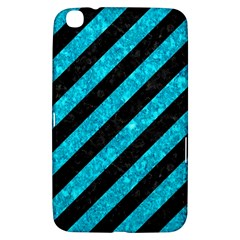 Stripes3 Black Marble & Turquoise Marble Samsung Galaxy Tab 3 (8 ) T3100 Hardshell Case