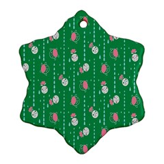 Pig Face Snowflake Ornament (2 Side)