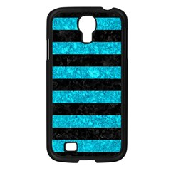 Stripes2 Black Marble & Turquoise Marble Samsung Galaxy S4 I9500/ I9505 Case (black)