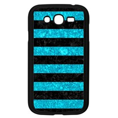 Stripes2 Black Marble & Turquoise Marble Samsung Galaxy Grand Duos I9082 Case (black)