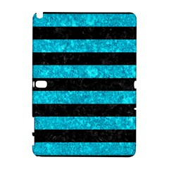 Stripes2 Black Marble & Turquoise Marble Samsung Galaxy Note 10 1 (p600) Hardshell Case