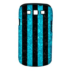 Stripes1 Black Marble & Turquoise Marble Samsung Galaxy S Iii Classic Hardshell Case (pc+silicone)