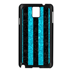 Stripes1 Black Marble & Turquoise Marble Samsung Galaxy Note 3 N9005 Case (black)
