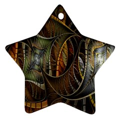 Mosaics Stained Glass Star Ornament (two Sides)