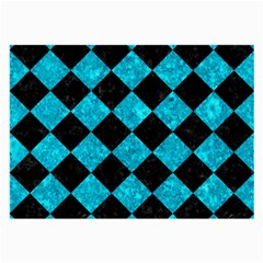 Square2 Black Marble & Turquoise Marble Large Glasses Cloth