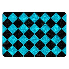 Square2 Black Marble & Turquoise Marble Samsung Galaxy Tab 8 9  P7300 Flip Case