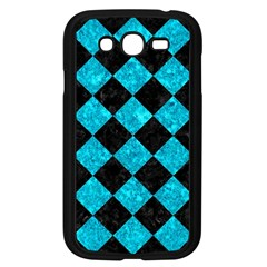 Square2 Black Marble & Turquoise Marble Samsung Galaxy Grand Duos I9082 Case (black)
