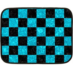 Square1 Black Marble & Turquoise Marble Double Sided Fleece Blanket (mini)