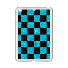 Square1 Black Marble & Turquoise Marble Apple Ipad Mini 2 Case (white)