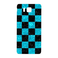Square1 Black Marble & Turquoise Marble Samsung Galaxy Alpha Hardshell Back Case