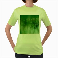 Background Texture Structure Women s Green T Shirt