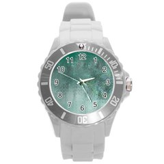 Background Texture Structure Round Plastic Sport Watch (l)