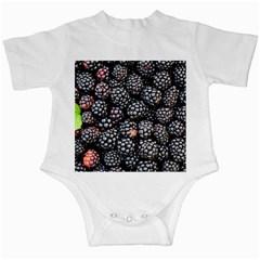 Blackberries Background Black Dark Infant Creepers