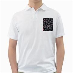 Blackberries Background Black Dark Golf Shirts