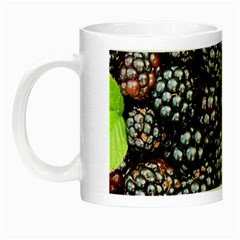 Blackberries Background Black Dark Night Luminous Mugs