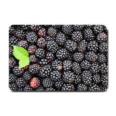Blackberries Background Black Dark Small Doormat