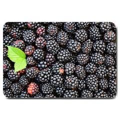 Blackberries Background Black Dark Large Doormat