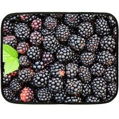 Blackberries Background Black Dark Fleece Blanket (mini)