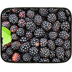 Blackberries Background Black Dark Double Sided Fleece Blanket (mini)