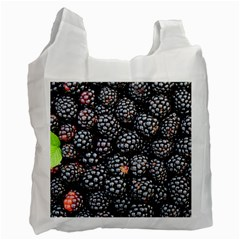 Blackberries Background Black Dark Recycle Bag (one Side)