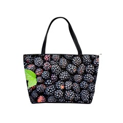 Blackberries Background Black Dark Shoulder Handbags