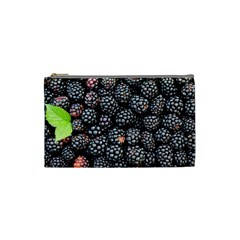 Blackberries Background Black Dark Cosmetic Bag (small)