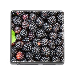 Blackberries Background Black Dark Memory Card Reader (Square)