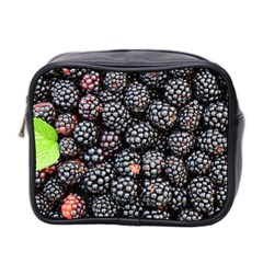 Blackberries Background Black Dark Mini Toiletries Bag 2 Side