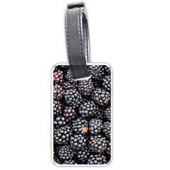 Blackberries Background Black Dark Luggage Tags (two Sides)