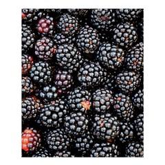 Blackberries Background Black Dark Shower Curtain 60  X 72  (medium)