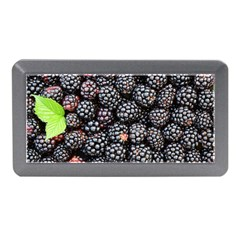 Blackberries Background Black Dark Memory Card Reader (mini)